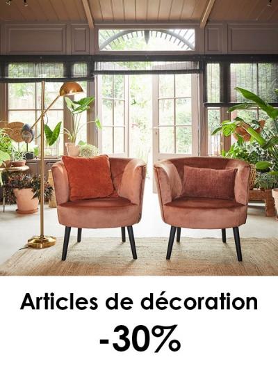 Articles de décoration -30%